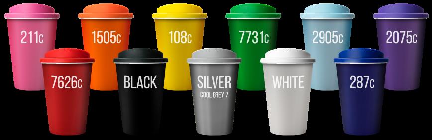 universal tumblers colour range - closest pantones - universal branding