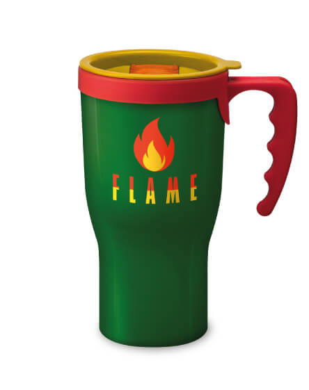 Universal Challenger Mug Green and Yellow