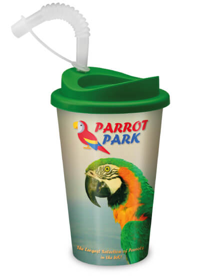 universal full colour printed reusable adventure park mugs