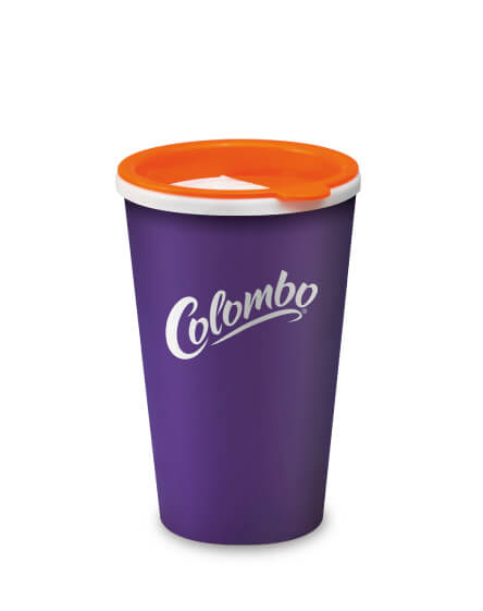 Universal Mugs printed reusable tumbler Purple Sip n Slide Lid