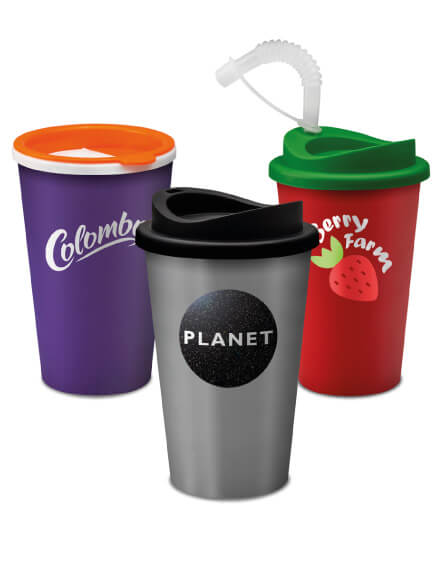 Universal Mugs printed and branded reusable tumblers and mugs