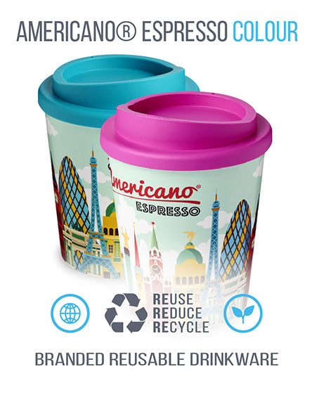 americano espresso branded reusable cups