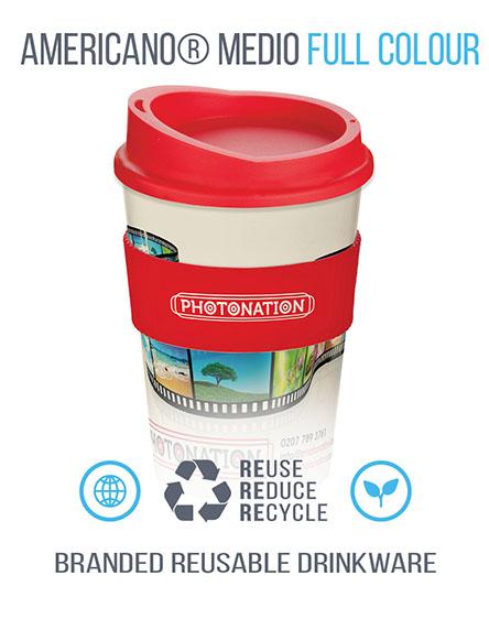 americano full colour reusable cups