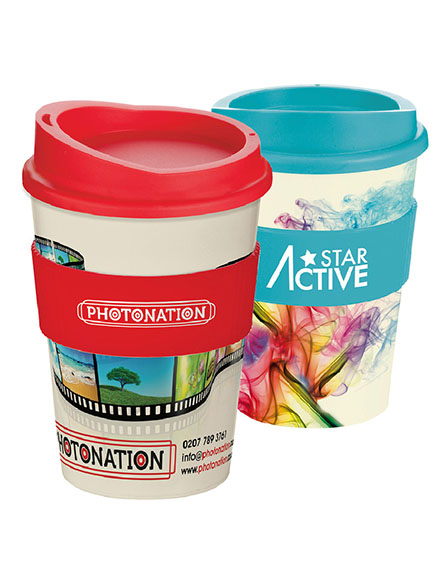 americano medio full colour branded reusable coffee cups