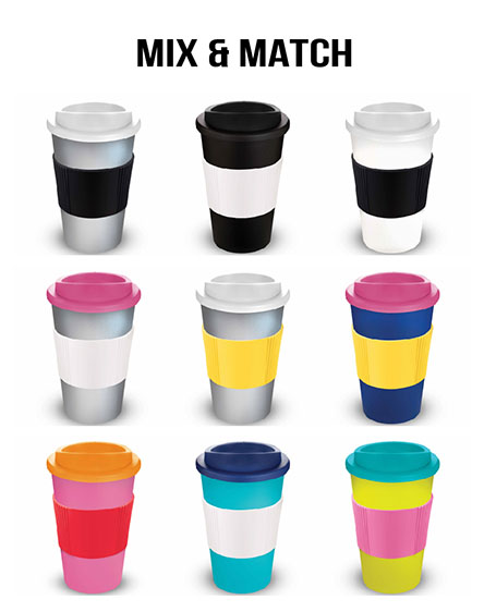 americano reusable cups mix and match cups