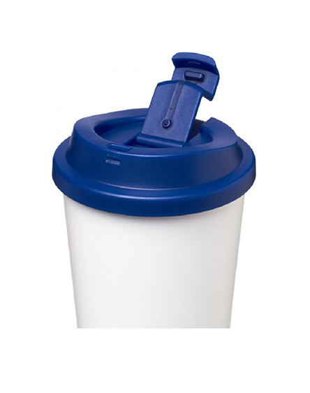 leak proof reusable cups blue