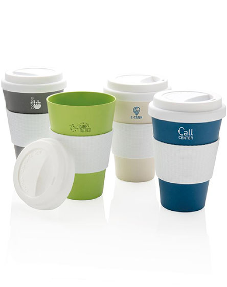 branded bamboo reusable coffee cups 430ml