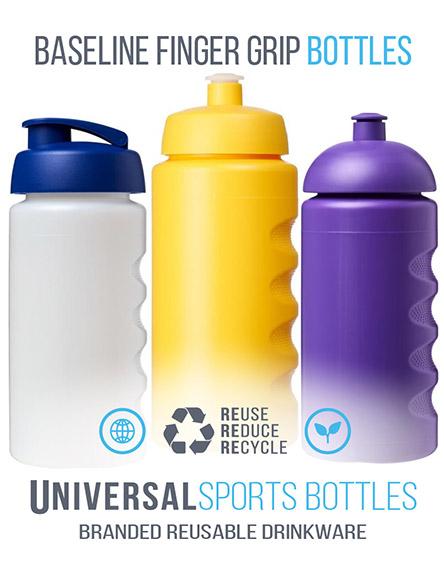 baseline 500ml sports water bottles branded Uk and EU
