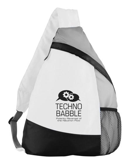branded armada sling backpack
