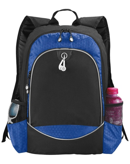 "branded benton 15"" laptop backpack with headphone port"
