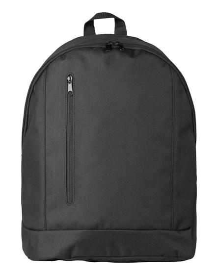 branded boulder vertical zipper backpack