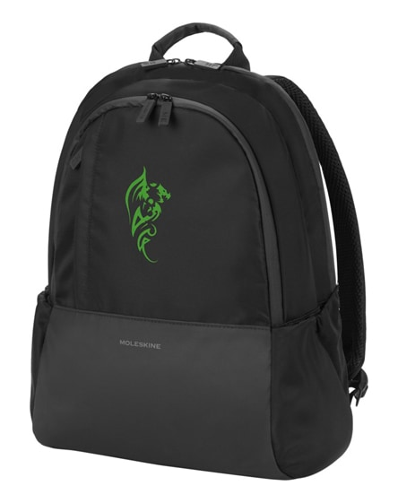 branded business backpack