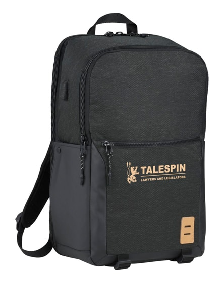 "branded camden 17"" laptop backpack"