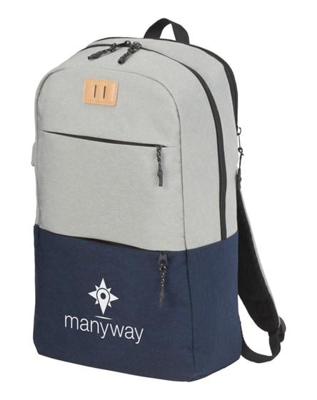 "branded cason 15"" laptop backpack"