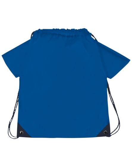 branded cheer t-shirt-shaped drawstring backpack