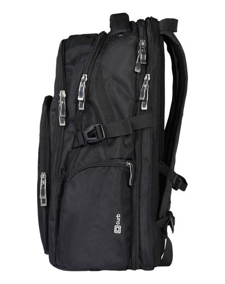 "branded curb 17"" laptop backpack"