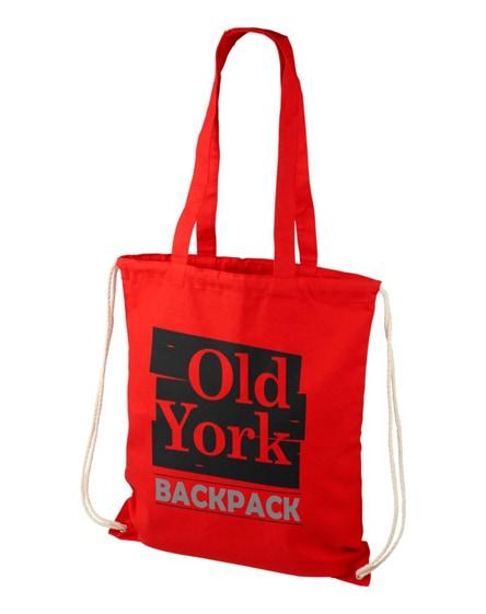 branded eliza 240 g/m² cotton drawstring backpack