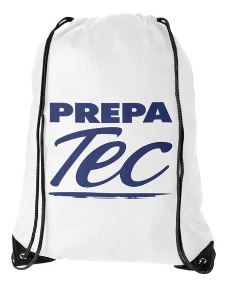 branded evergreen non-woven drawstring backpack