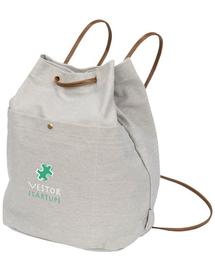 branded harper cotton canvas drawstring backpack