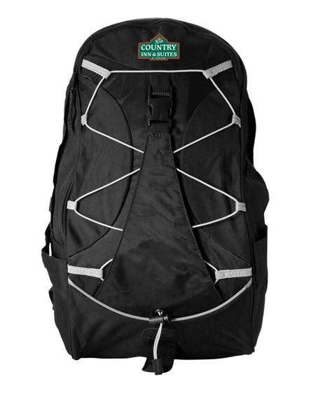 branded hikers elastic bungee cord backpack