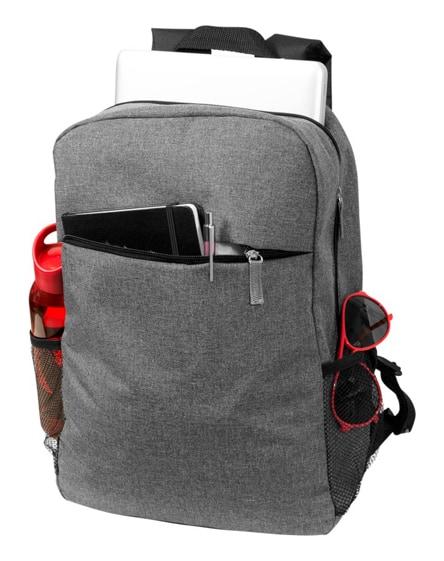 "branded hoss 15.6"" heathered laptop backpack"