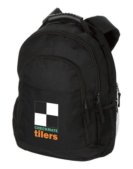"branded journey 15.4"" heavy-duty handle laptop backpack"