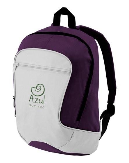 branded laguna zippered front pocket backpack
