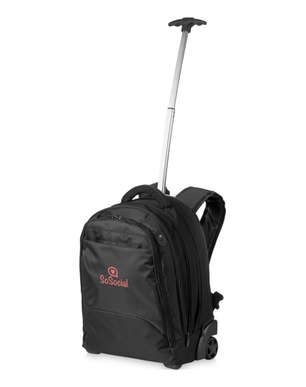 "branded lyns 17"" laptop trolley backpack"
