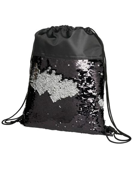 branded mermaid sequin drawstring backpack