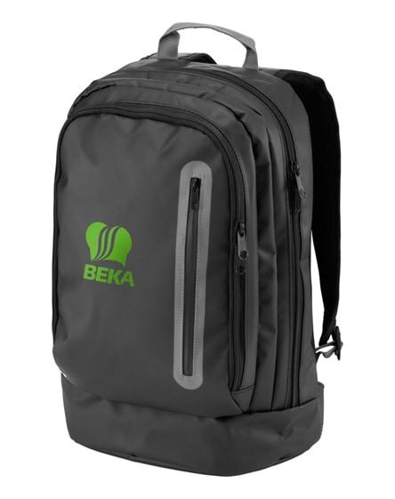 "branded north-sea 15.4"" water-resistant laptop backpack"
