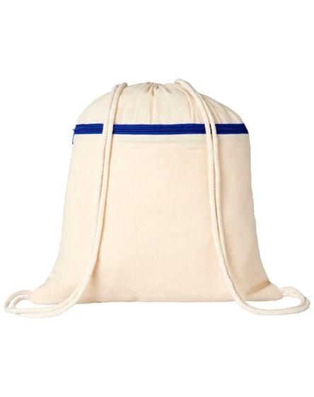 branded oregon zippered drawstring backpack
