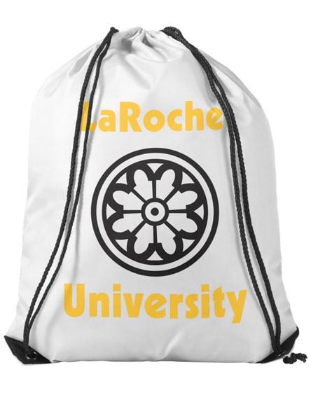 branded oriole premium drawstring backpack