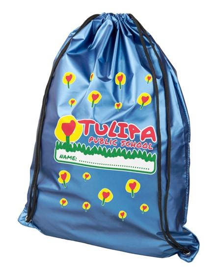 branded oriole shiny drawstring backpack