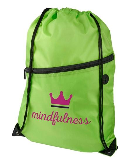 branded oriole zippered drawstring backpack
