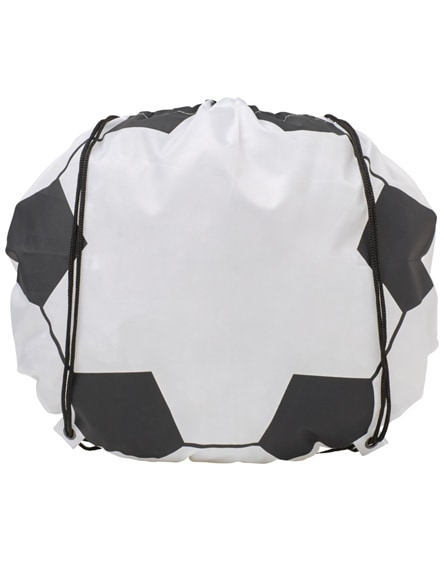 branded penalty football-shaped drawstring backpack