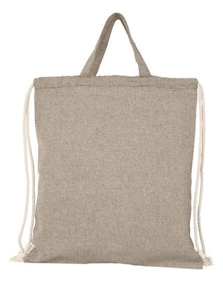 branded pheebs 150 g/m² recycled cotton drawstring backpack
