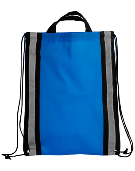 branded reflective non-woven drawstring backpack