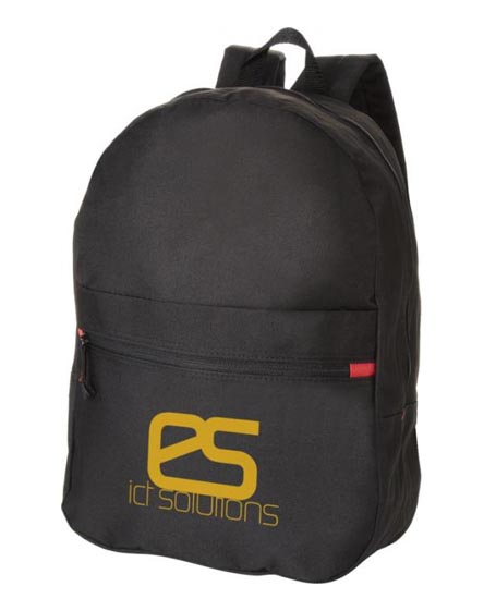 branded vancouver dual front pocket backpack