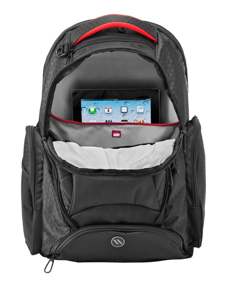 """branded vapor 17"""" checkpoint friendly laptop backpack"""