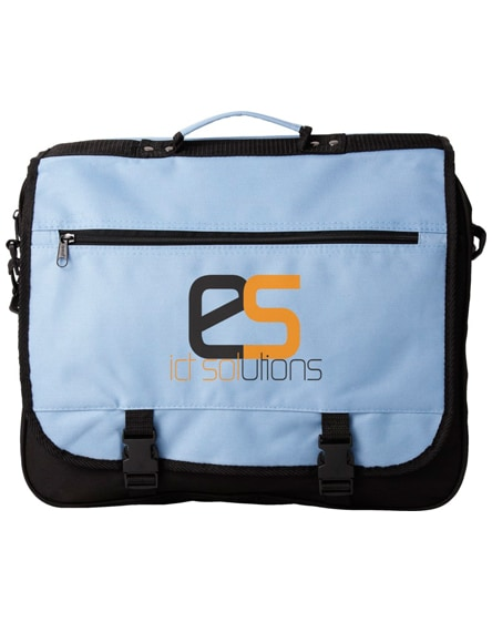 branded anchorage 2-buckle closure conference bag