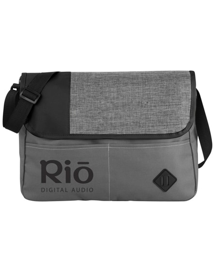 branded offset messenger bag