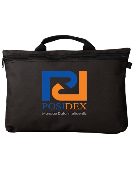 branded orlando zippered conference bag with pen loop