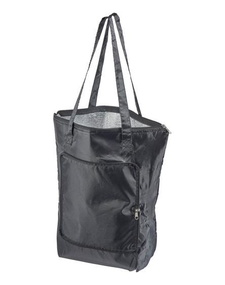 branded cool-down zippered foldable cooler tote bag
