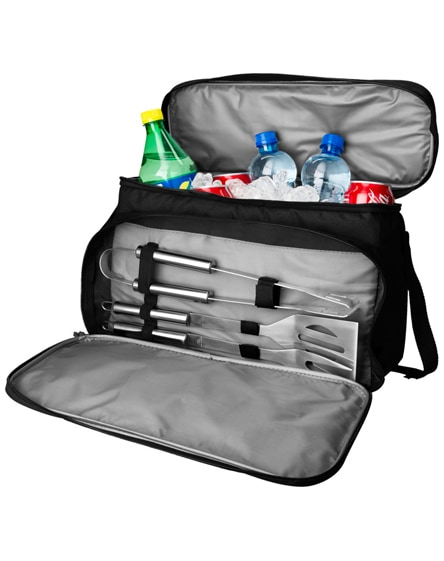 branded dox 3-piece bbq set with cooler bag