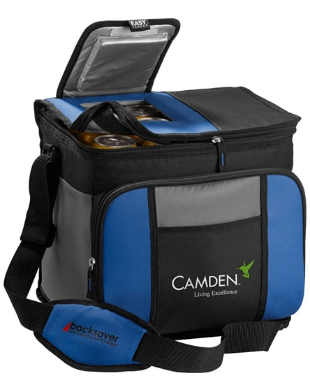 branded easy-access 24-can cooler bag