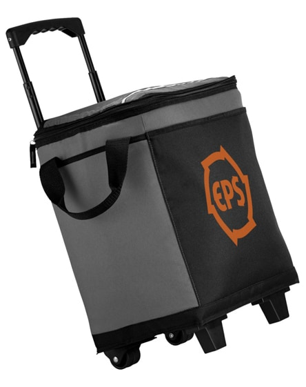 branded roller 32-can cooler bag with wheels