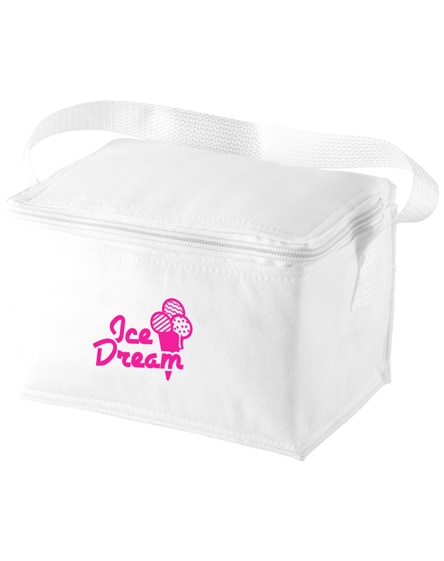 branded spectrum 6-can non-woven cooler bag