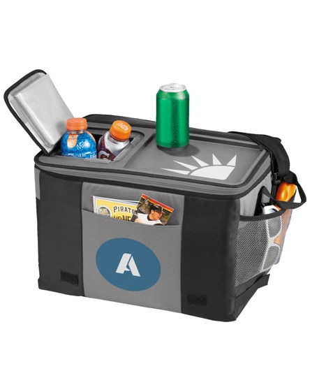 branded table-top 50-can cooler bag
