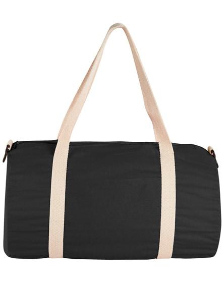 branded cochichuate cotton barrel duffel bag