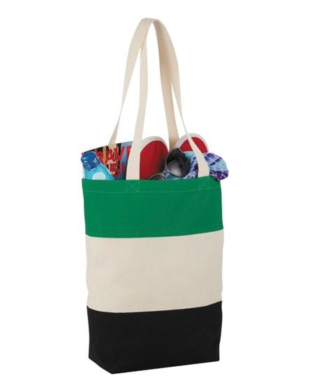 branded colour-block 227 g/m² cotton tote bag